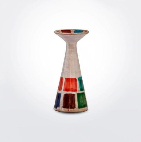 Multicolor Ceramic Candle Holder