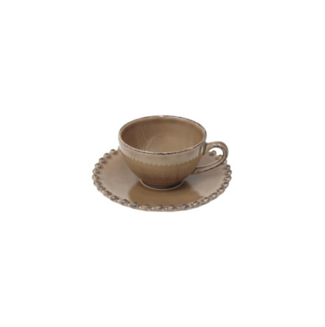 BROWN PEARL COFFEE CUP & SAUCER