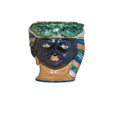 BLACK MAN HEAD VASE