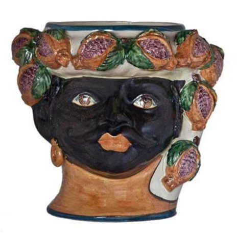 BLACK MAN HEAD VASE (Large)