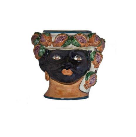 BLACK MAN HEAD VASE (Large)