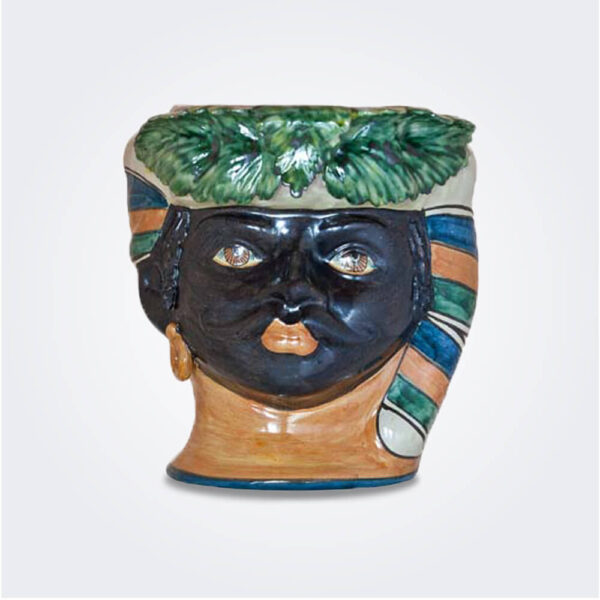 Black man head vase product picture.