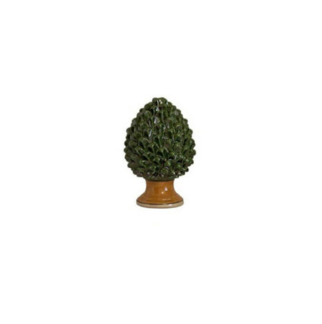 CERAMIC GREEN PINE CONE (Extra small)