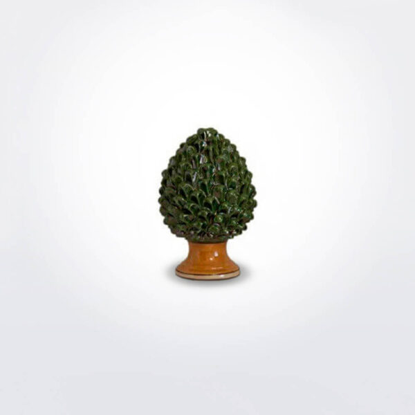 Ceramic green pine cone extra small.