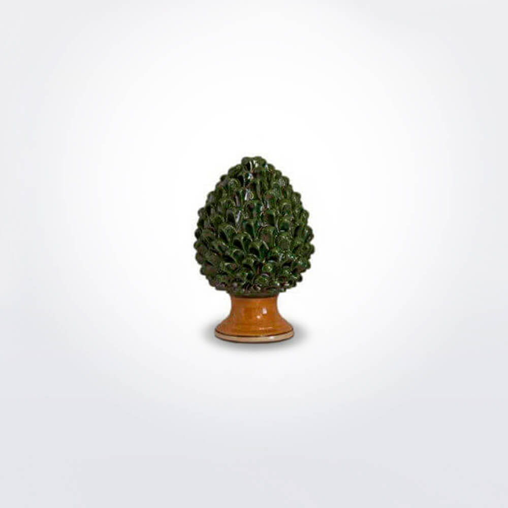 Ceramic-green-pine-cone-extra-small