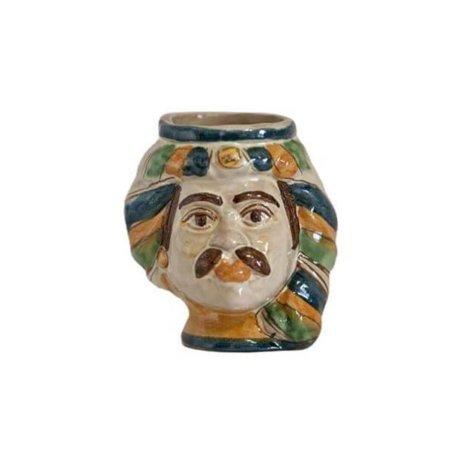 Ceramic Man Head Egg Holder
