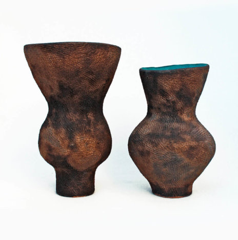 CLAY VASES SET