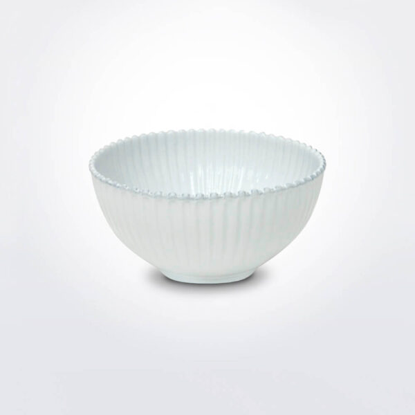 Costa nova pearl salad bowl gray background.