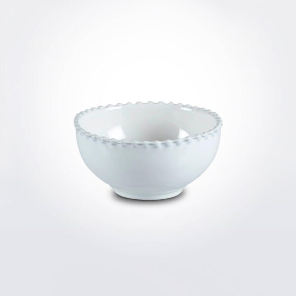 Costa nova pearl soup bowl set white background.