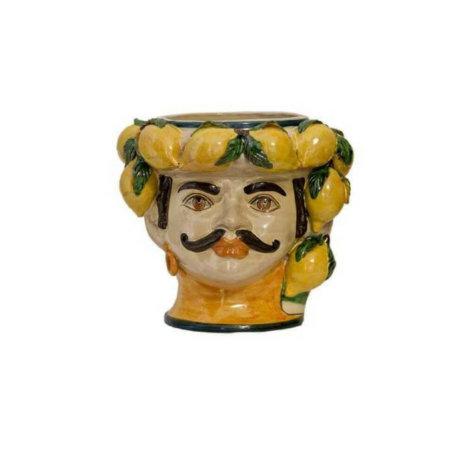 MOUSTACHE MAN HEAD VASE (Large)