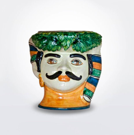 MOUSTACHE MAN HEAD VASE (Medium)