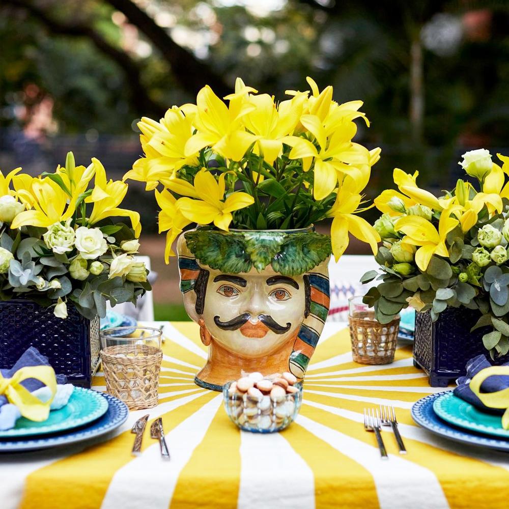 Moustache Man Head Vase 010