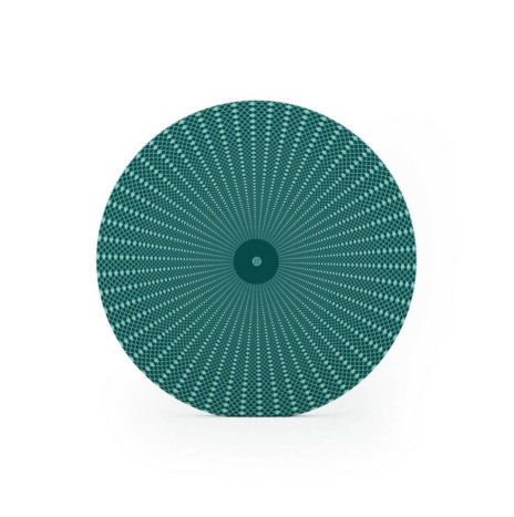 GREEN SQUAMA PATTERNED CHARGER PLATE