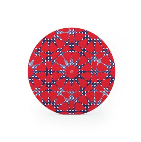 SEA FIRE PATTERNED CHARGER PLATE