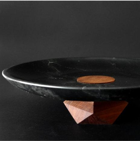 AKUMAL BLACK MARBLE PLATTER