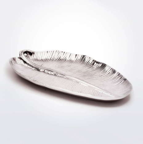 ALUMINUM LEAF CATCHALL TRAY