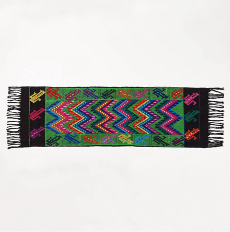 CHIAPAS GREEN TABLE RUNNER