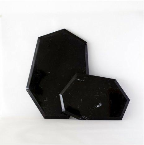 Cozumel Black Marble Board Set