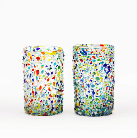 MULTICOLOR CONFETTI WATER GLASSES
