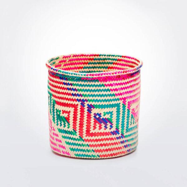 Oaxaca palm basket uncovered.