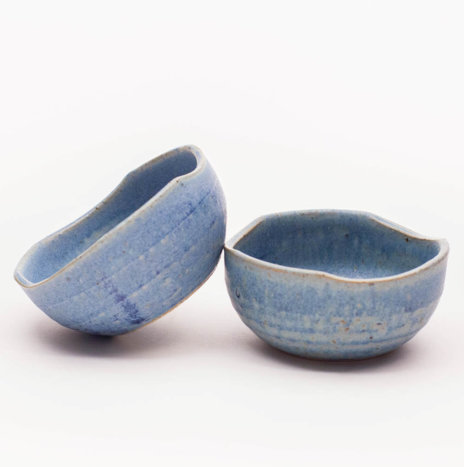 SKY BLUE CERAMIC SMALL BOWLS SET