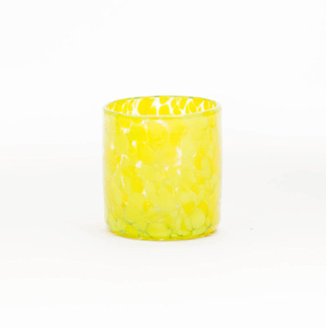 YELLOW CONFETTI SHOT GLASSES