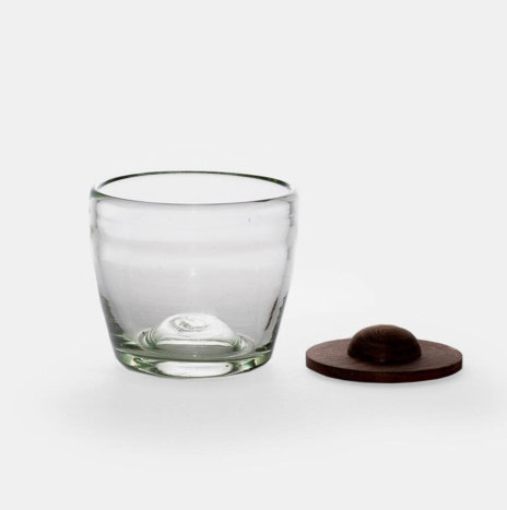 DRINKING GLASSES WITH WOOD COASTER SET