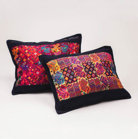 "CHIAPAS HUIPIL PILLOW COVERS ""M"""