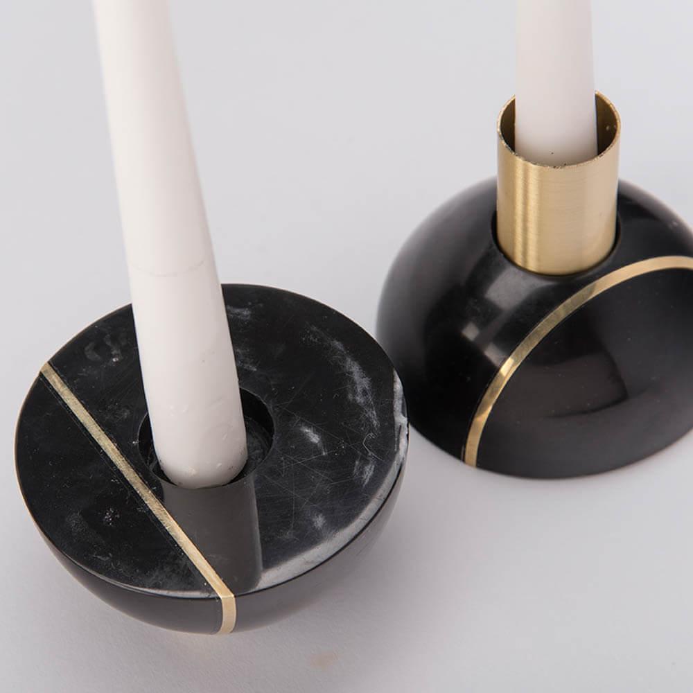HAURI BLACK MARBLE CANDLEHOLDER (18)