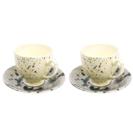 CUP AND SAUCER SET (LARGE)
