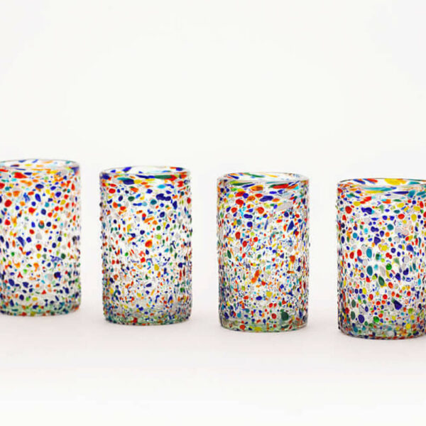 MULTICOLOR CONFETTI WATER GLASS SET (2)