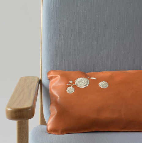 SIESTA LEATHER PILLOW COVER