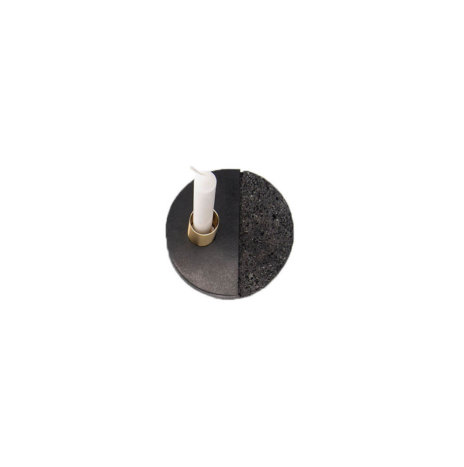 SMALL LAVA ROCK CANDLE HOLDER PLATE