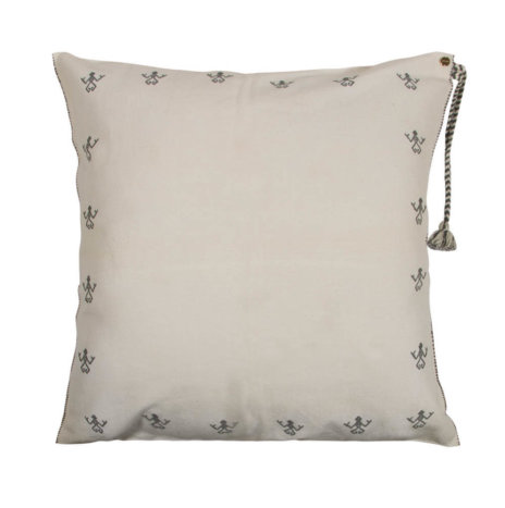 WHITE GOLD PILLOW COVER