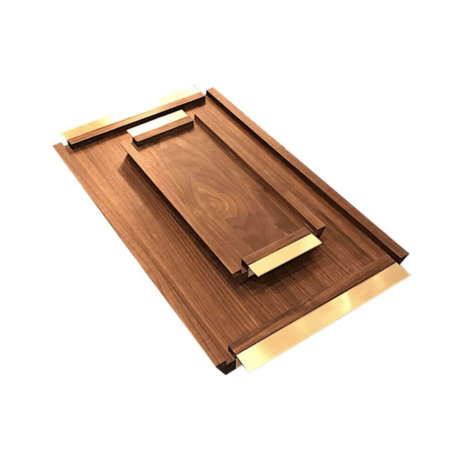 WOODEN SERVING TRAYS SET