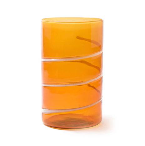 AMBER LONG DRINK TUMBLERS SET