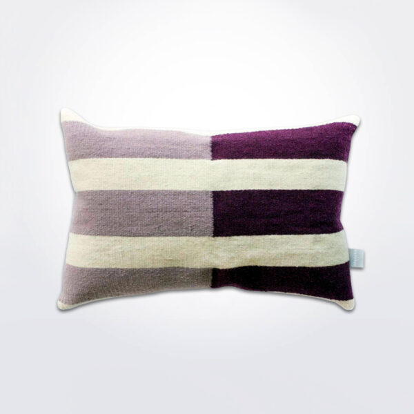 Nima mura lilac pillow cover with pillow.