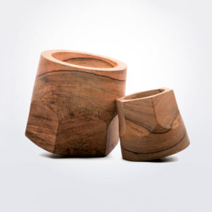 Terra dual swinging planter pot set