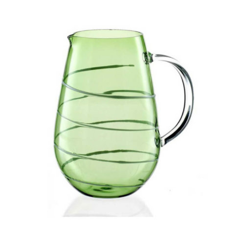 BROCCA GREEN GLASS CARAFE