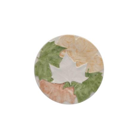 FALL LEAVES CERAMIC BREAD PLATE