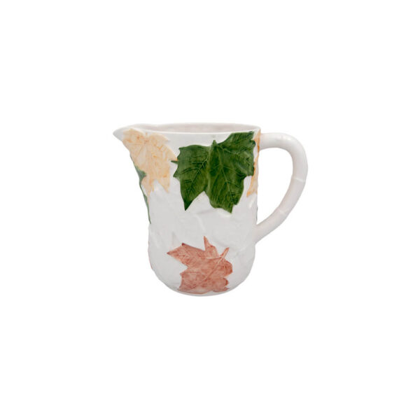 FALL LEAVES CERAMIC PITCHER