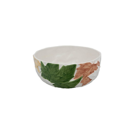 FALL LEAVES CERAMIC SALAD BOWL (Medium)