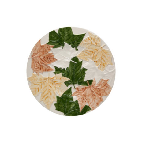 FALL LEAVES CHARGER PLATE