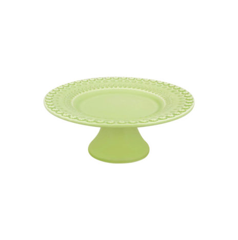 FANTASY BRIGHT GREEN CERAMIC CAKE STAND
