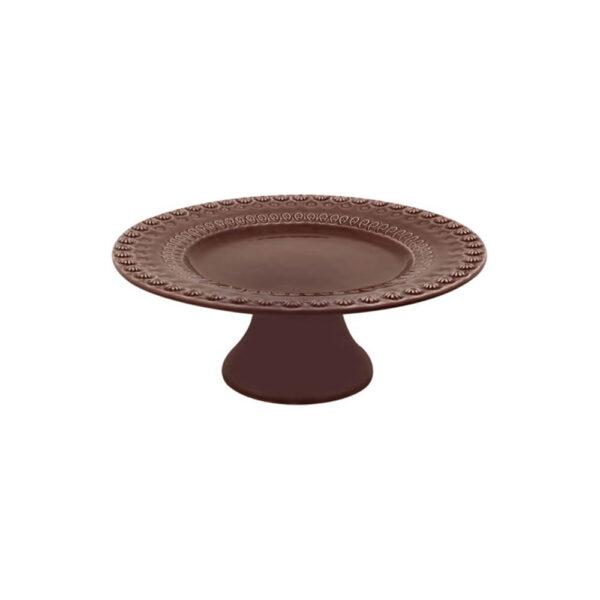 FANTASY COCOA CERAMIC CAKE STAND