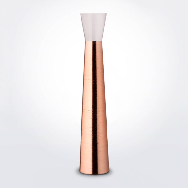 Futura copper tall vase product photo.