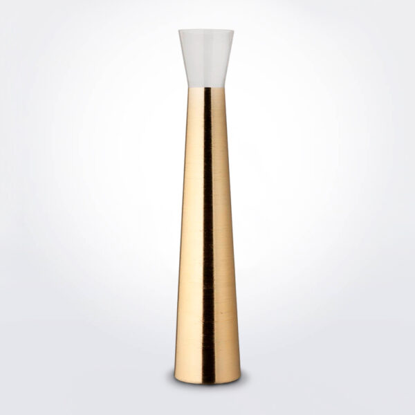 Futura golden tall vase product photo.