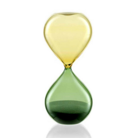 GREEN & YELLOW HOURGLASS