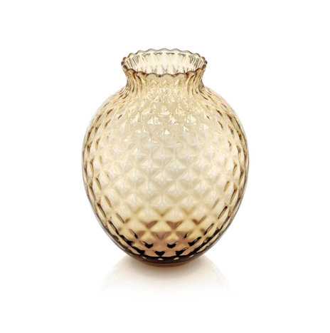 INFIORE CLEAR HONEY SHORT VASE