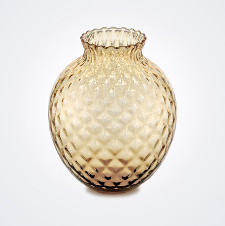Infiore Clear Honey Tall Vase
